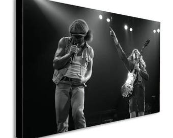ACDC - Angus Young - Brian Johnson - Live - Canvas Wall Art Print - Various Sizes
