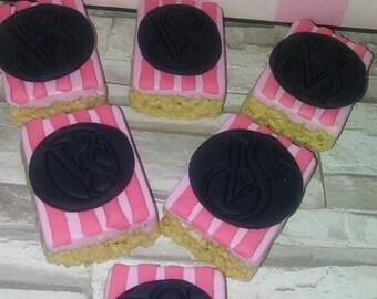 Victoria's Secret Pink Treats (covered Oreos & Rice krispy treats)