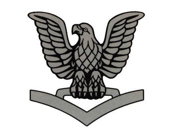 DXF file third class navy crow good for CNC lasers, waterjets, plasma cutters, and routers same file that I utilize in my plaques.