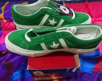 Vintage Converse Jack Star Green Shoe Size 7