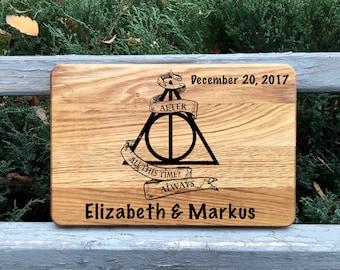 Wedding cutting board, Cutting board, Harry Potter, Wood cutting board, Gift for couple, Bridal shower gift ,Wedding gift, Chopping board