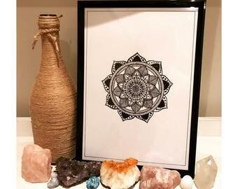 Simple A4 Mandala - Print