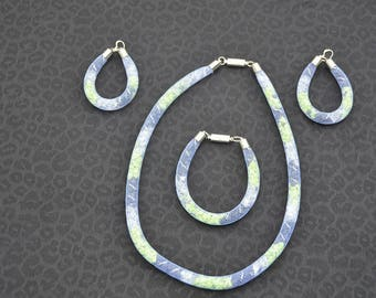 wire mesh jewelry set three pieces