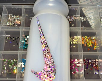 Swarovski crystal embellished Nike water bottle