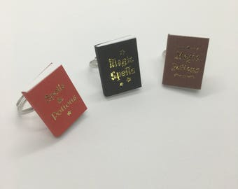 Magic Spells and Potions Book Ring