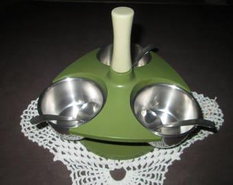 Vintage Rotating Condiment Server