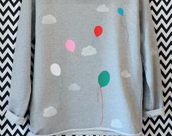 Sweatshirt//balloons//clouds//bio//Fair-Wear//organic//balloons