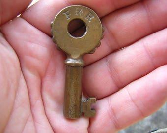 Rare Antique Victorian Pennsylvania or Pacific Railroad Railway Train Bronze Key