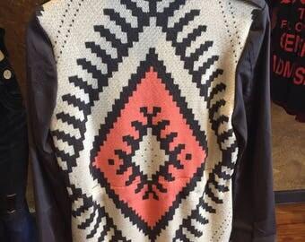 Aztec style wool light jacket