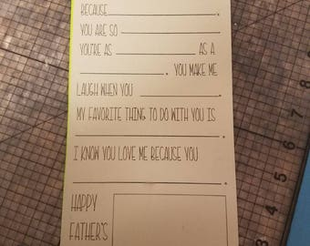 Fathers day Blank card!
