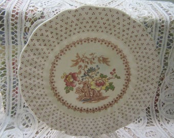 Vintage Royal Doulton England Salad/Bread Plates Grantham D5477 Set of 3