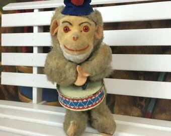 Antique Wind Up German Monkey Toy