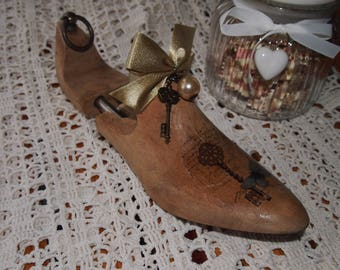 antique decorative wooden shoe