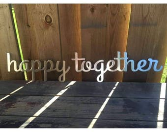 Happy Together Metal Wall Art