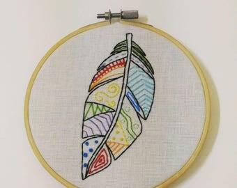 Hand Embroidery Pattern : Colourful Boho , PDF pattern, hand embroidery designs ,embroidery pattern