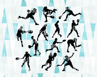 Tennis players SVG, Tennis SVG, Tennis SVG, Women tennis player Svg, Tennis bundle Svg, Instant download, Sport Svg, Eps - Dxf - Png - Svg