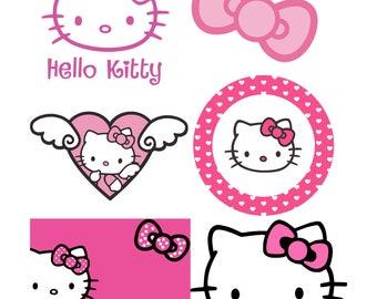 Hello Kitty svg Hello Kitty Cut file svg files for silhouette cameo cricut explore dxf file Hello Kitty Transfer Instant Download