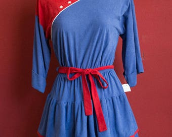 Vintage 80's Sailor Style Made in Western Germany C&A Dress