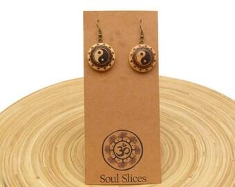 """Soul slices """"mandala peace"""" pendant earrings 25mm"""