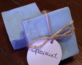 Spearmint - Handmade Soap - Natural Soap - Essential Oil Soap - Cold Process Soap