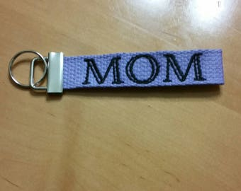 Embroidered Mom KeyChain