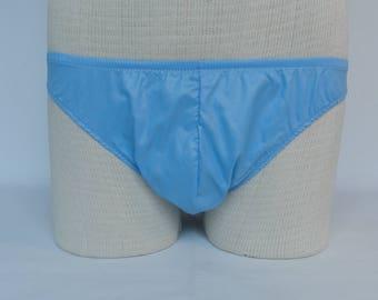 mens bikinis,mens briefs,mens novelty briefs,sky blue briefs,unique briefs,mens underwear,male dancers costumes,briefs,mens taffeta briefs