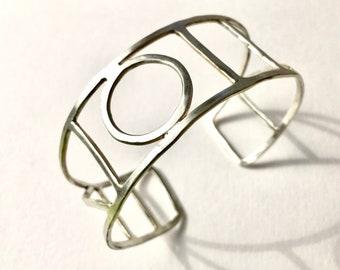 Big silver bracelet-cuff-statement-bracelet