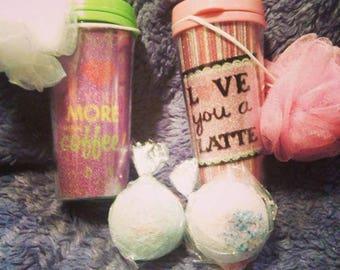 Valentine bath bombs gift set