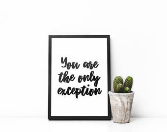 You Are The Only Exception - Paramore - A4 Poster - High Gloss