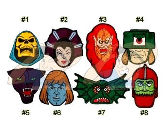 MOTU Embroidered Patches He-man 80's Cartoon Masters of the Universe Skeletor Evil-lyn Beast Man Tri-klops Panthor Faker Mer-man Trap-jaw