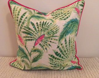 20 x 20 inch Tropical Pillow Cover