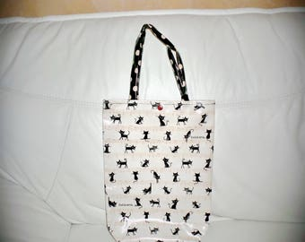 Bag oilcloth cats & notes