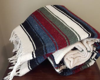 Perfect Mexican Blanket with thick, warm weave