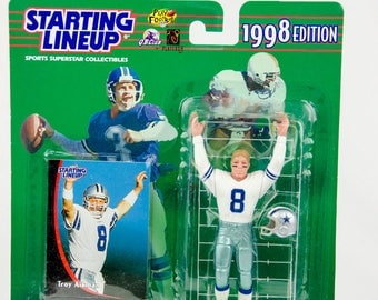 Starting Lineup 1998 NFL Troy Aikman Action Figure - Dallas Cowboys