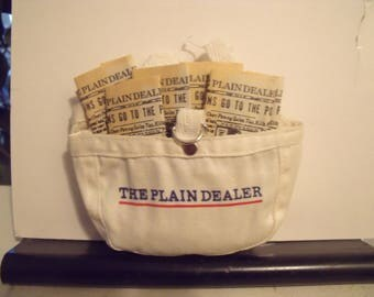 Vintage Mini Paper Boy Newspaper Bag And Papers The Plain Dealer Cleveland Ohio