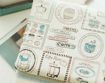 150cmx50cm Cotton Linen Fabric coffee cafe