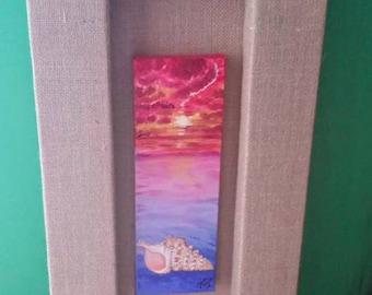 Four Beaches w/ Custom Burlap Frame