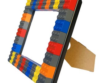 Colorful Picture Frame - Genuine LEGO Bricks - Available in several sizes