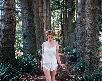 Bride PJ Satin Set \ Satin PJ For Brides And Bridesmaids \ Bridesmaid Satin Pyjamas