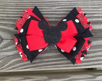 Minnie Mouse Over The Top Hair Bow