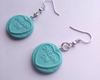 Sweet Heart Earrings/Charms - Polymer Clay