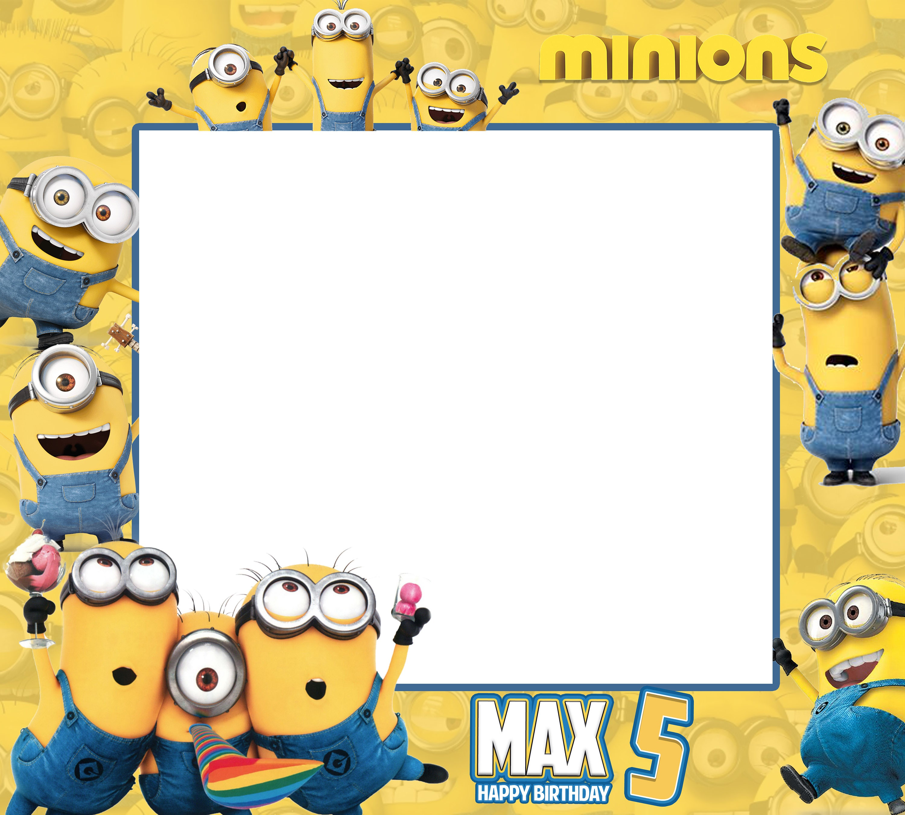 Minions Birthday Frames Minions Photo Booth Frame Frame