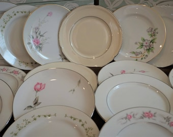 20  Mismatched China 6 inch Bread  /Dessert Plate Lot A