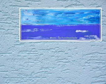 "Original painting, unikat, Stilleben, acrylic on canvas, 50 cm x 20 cm, approx. 20 ""x 8"", painting no. 204"