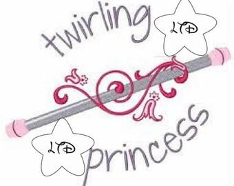 Twirling Princess Iron On Transfer
