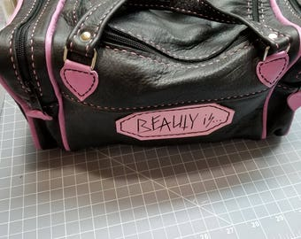 Leather handmade Mini duffel bag