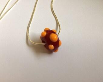 Glass bead pendant