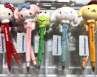 2017 NEW Sanrio plush pen: Hello Kitty, My Melody, Keroppi, Cinnamoroll, Pompompurin