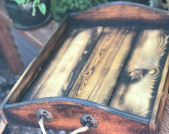 Repurposed Wood Serving Tray