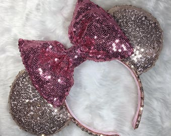 Pink and Rose Gold mouse ears